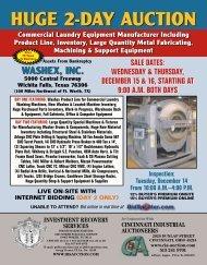 HUGE 2-DAY AUCTION - Cincinnati Industrial Auctioneers, Inc.