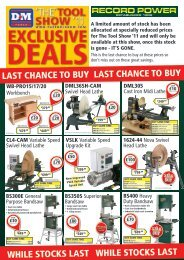 last chance to buy last chance to buy while stocks last ... - D & M Tools
