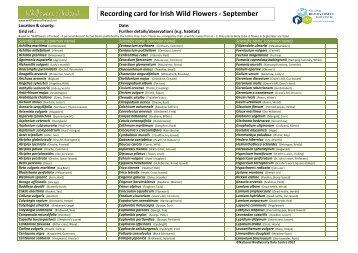 Flora Record card_September_Scientific name - Vascular Plants ...