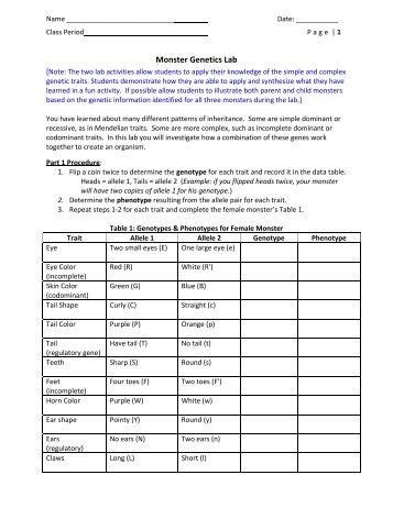 35 Dragon Genetics Worksheet Answer Key - Ekerekizul