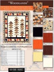 Woodlands quilt pattern - Hoffman California Fabrics