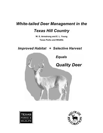 White-tailed deer management in the Texas Hill Country