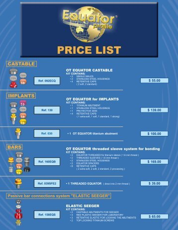OT Equator Price List - Rhein83usa.com