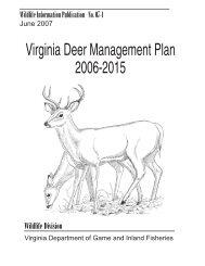 Virginia Deer Management Plan, 2006-2015 - Dr. Deer