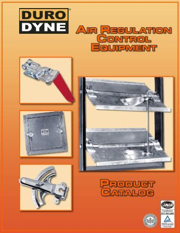Product catalog air regulation control equiPment - Duro Dyne