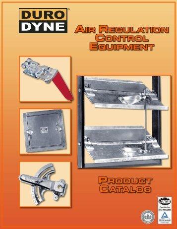 Product catalog air regulation control equiPment - Duro Dyne
