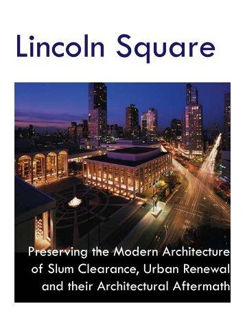 Lincoln Square Document FINAL VERSION - Columbia University ...