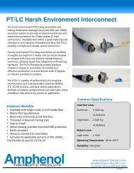 PT/LC Harsh Environment Interconnect - Amphenol Fiber Optic ...