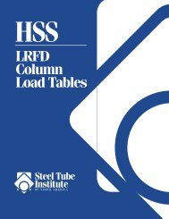 LRFD for PDF - the Steel Tube Institute