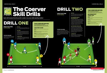 the coerver Skill Drills - FourFourTwo
