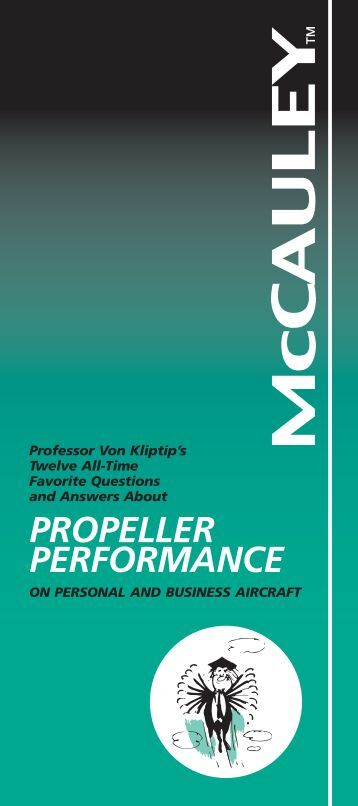 propeller performance - McCauley Propeller Systems - Textron