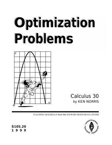 Calculus Optimization Problem?