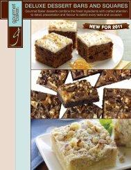 DELUXE DESSERT BARS AnD SQUARES - Gourmet Baker