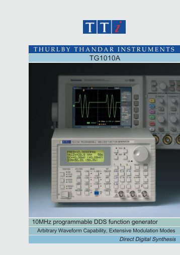 TG1010A 10MHz DDS Function Generator with Arbitrary ... - ratolab