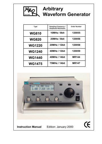 Arbitrary Waveform Generator - Produktinfo.conrad.com