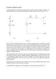 Principles of Signal Generators A signal generator is an electronic ...