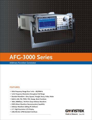 Instek AFG-3000 Arbitrary Waveform Generator - TestEquity