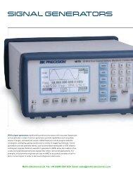 SIGNAL GENERATORS - Metrix Electronics Ltd
