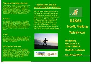 Nordic Walking Nordic Walking Technik  Technik-Kurs