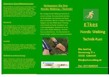 Nordic Walking Nordic Walking Technik  Technik-Kurs - Sperling