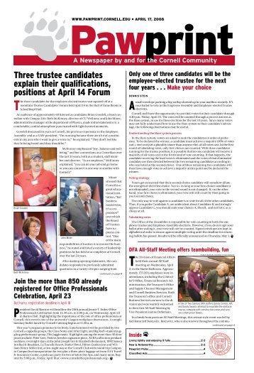 Three trustee candidates explain their qualifications ... - Pawprint