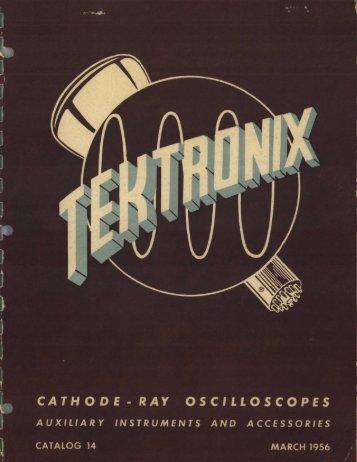 CATHODE - RAY OSCILLOSCOPES - Bitsavers
