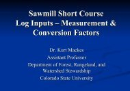 Sawmill Short Course Log Inputs – Measurement & Conversion ...
