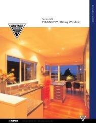 MAGNUM™ Sliding Window - Vantage Aluminium Joinery