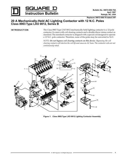 Instruction Bulletin Schneider Electric