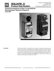 Technical Comparison of Type C Limit Switches ... - Square D