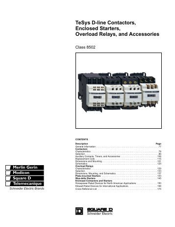 "tesysâ""¢ iec style contactors and starters schneider electric tesys d line contactors enclosed starters overload captiveaire"