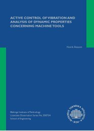ACTIVE CONTROL OF VIBRATION AND ANALYSIS OF DYNAMIC ...