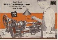 """South Bend I 9-inch """"Workshop"""" Lathe"""