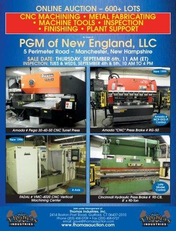 Online auction - Thomas Industries