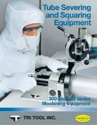 Tube Severing and Squaring Equipment