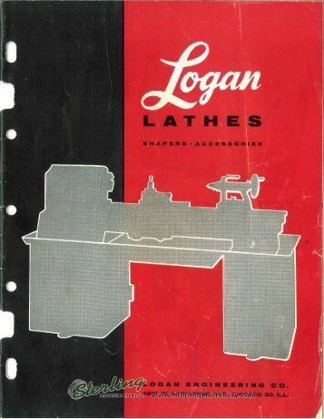 Logan Lathe Brochure - Sterling Machinery