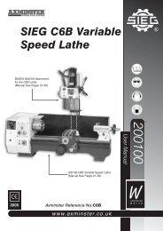 SIEG C6B Variable Speed Lathe - Axminster Tool Centre