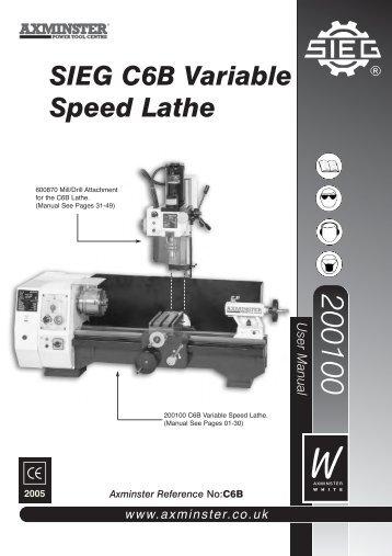 C4 Lathe manual