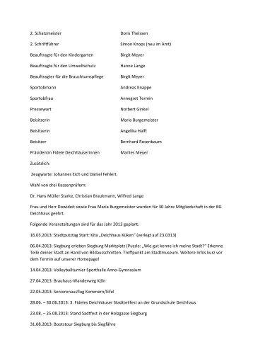 Bürgergemeinschaft Deichhaus (pdf ) - Siegburg