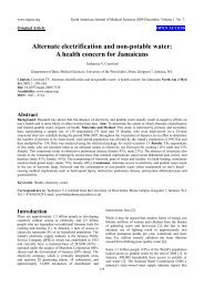 Alternate electrification and non-potable water - North American ...
