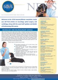 Autumn/Winter 2012 - Southern Counties Veterinary Specialists LLP