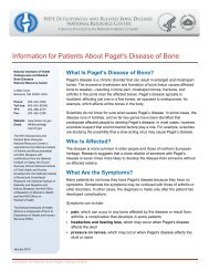 Information for Patients About Paget's Disease of Bone - National ...