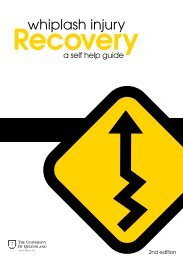 Whiplash Injury Recovery Booklet - 2nd edition - Motor Accident ...