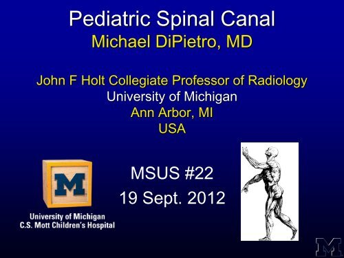 Pediatric Spinal Canal - Henry Ford Hospital