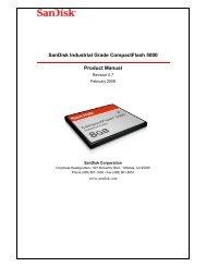 SanDisk Industrial Grade CompactFlash 5000 Product Manual