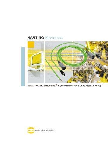 Harting RJ Industrial IP67 Push Pull Systemkabel 4 - SE Spezial ...