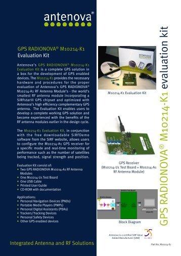 GPS RADIONO VA M10214-K1 evaluation kit