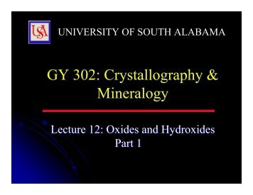 GY 302 - University of South Alabama
