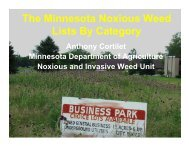 MN Noxious Weed Lists w/Photos - Otter Tail County