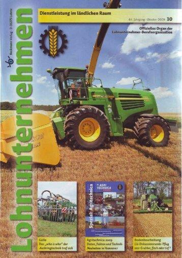 Lohnunternehmen 10/09 - Spezielle-Agrar-Systeme GmbH